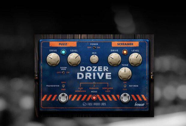 Fuse Audio Labs Dozer Drive plug-in pedale per chitarra software virtual fuzz screamer strumentimusicali