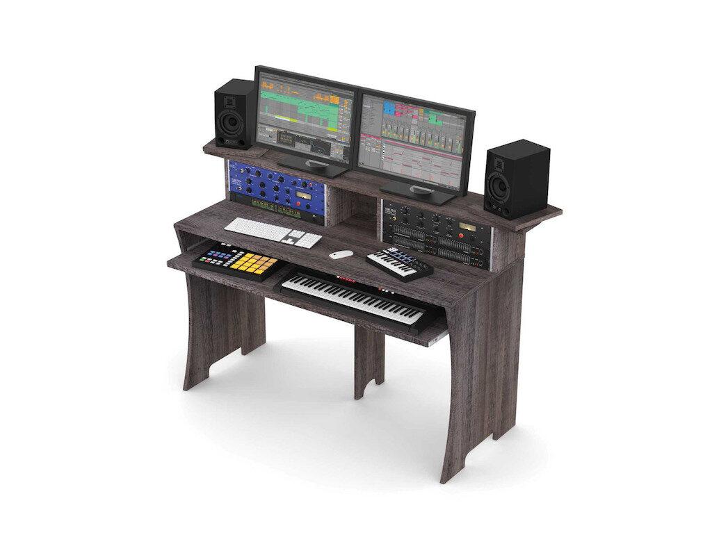 Glorious Workbench Driftwood studio desk scrivania monitor outboard recording mixing soundwave strumentimusicali