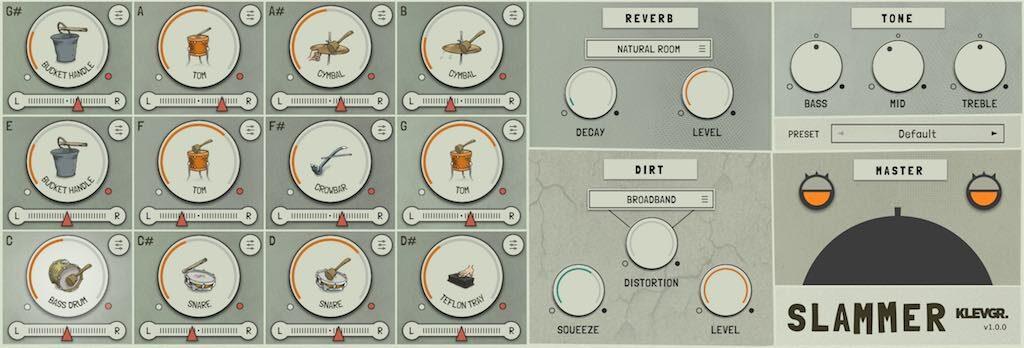 Klevgrand Slammer plug-in virtual instrumenti drums software daw music producer strumentimusicali