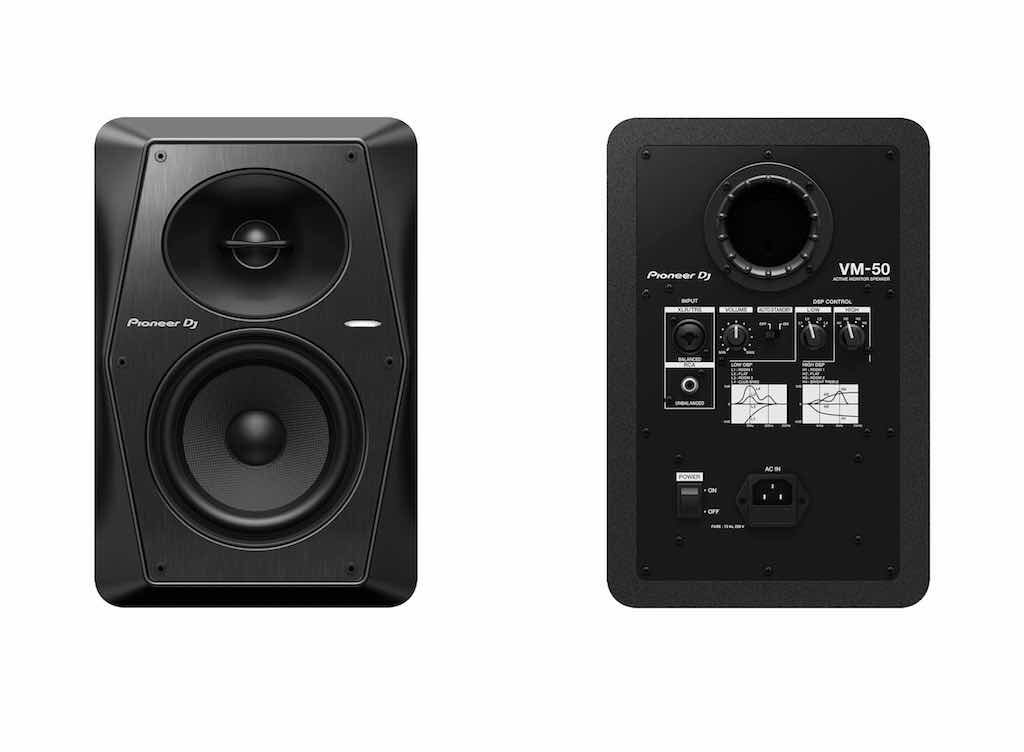 Pioneer DJ VM Series monitor audio nearfield recording mixing home studio frenexport strumenti musicali vm-50