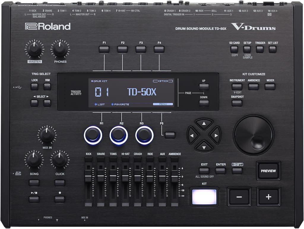 Roland TD-50X modulo batteria elettronica drumkit drums strumentimusicali vdrums