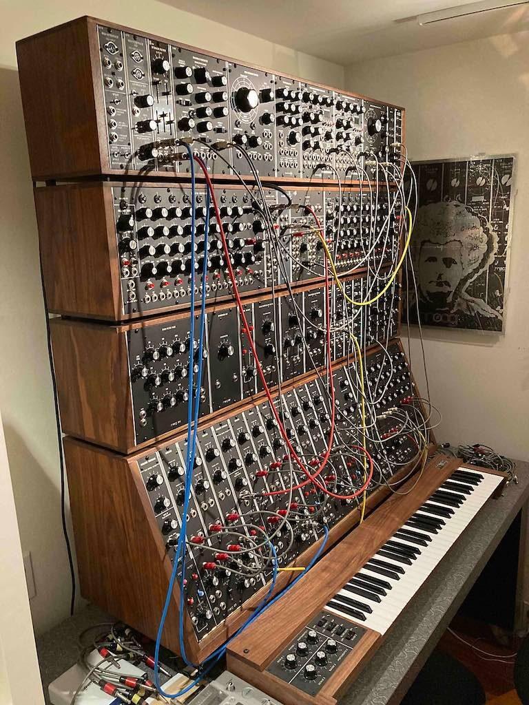 Rick Wakeman MOOG SYSTEM IIIC tastiera sintetizzatore synth strumentimusicali yes