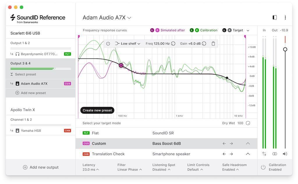 Sonarworks SoundID Reference calibrazione monitor software studio home studio media headphones cuffie midiware strumentimusicali