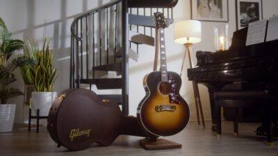 Gibson J-150 Noel Gallagher chitarra acustica acoustic guitar artist signature oasis strumentimusicali