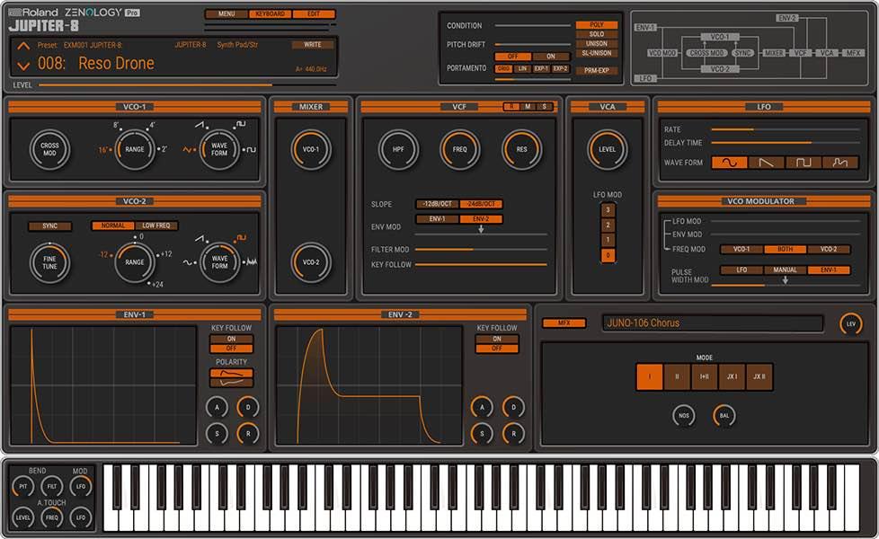 Roland Model Expansion Zenology gratis free freeware virtual instrument synth soft sintetizzatore rolandcloud strumentimusicali jupiter-8