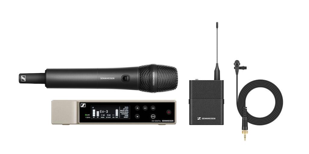 Sennheiser Evolution Wireless Digital Combo Set live wireless mic radio microfono exhibo strumentimusicali