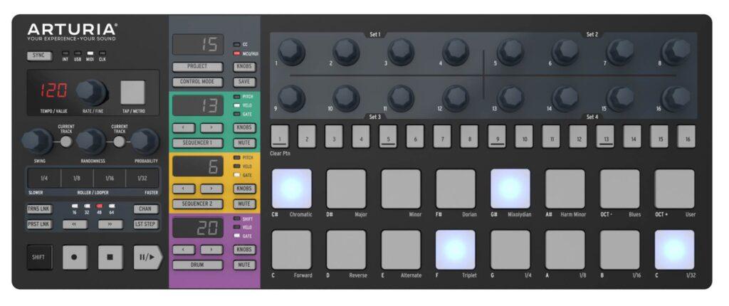 Arturia BeatStep Pro Black Edition midiware hardware controller tastiera keyboard midiware