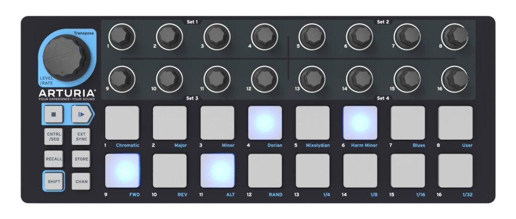 Arturia BeatStep Black Edition midiware hardware controller tastiera keyboard midiware