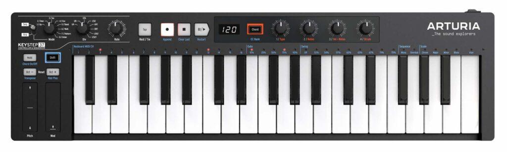 Arturia KeyStep 37 Black Edition midiware hardware controller tastiera keyboard midiware