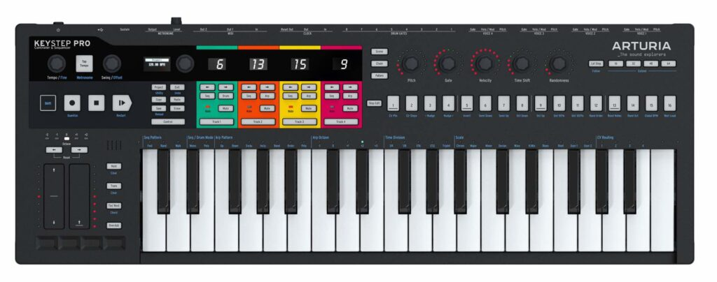 Arturia KeyStep Pro Black Edition midiware hardware controller tastiera keyboard midiware