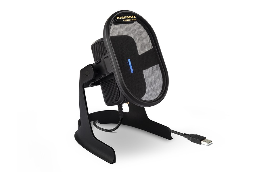 Marantz Professional Umpire microfono usb mic hardware recording home studio podcast soundwave strumenti musicali