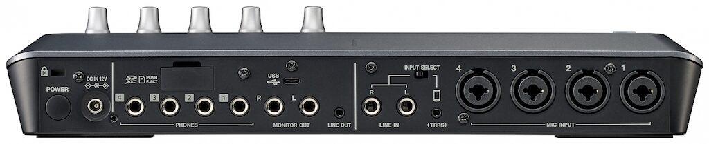 Tascam Mixcast 4 podcast mixer interfaccia audio superficie di controllo aeb audio studio home strumentimusicali