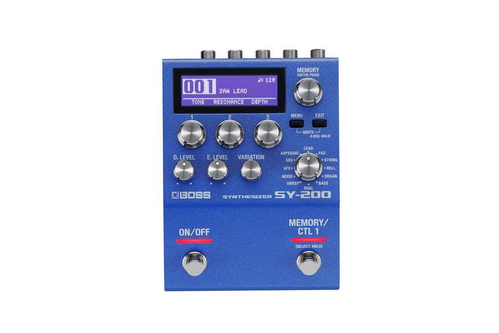 Boss SY200 pedale stompbox hardware digital synth strumentimusicali