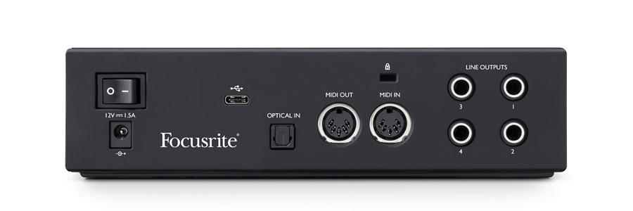 Focusrite Clarett+ 2Pre interfaccia audio usb pro project home studio recording algam eko strumentimusicali