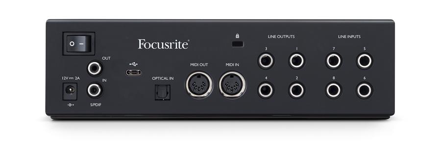 Focusrite Clarett+ 4Pre interfaccia audio usb pro project home studio recording algam eko strumentimusicali