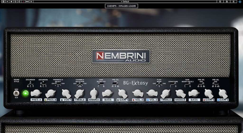Nembrini Audio BG Extasy Boutique guitar amp chitarra software daw virtual strumentimusicali