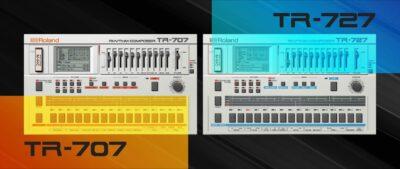 Roland Cloud tr-707 TR-727 drum machine virtual instrument gratis free strumenti musicali