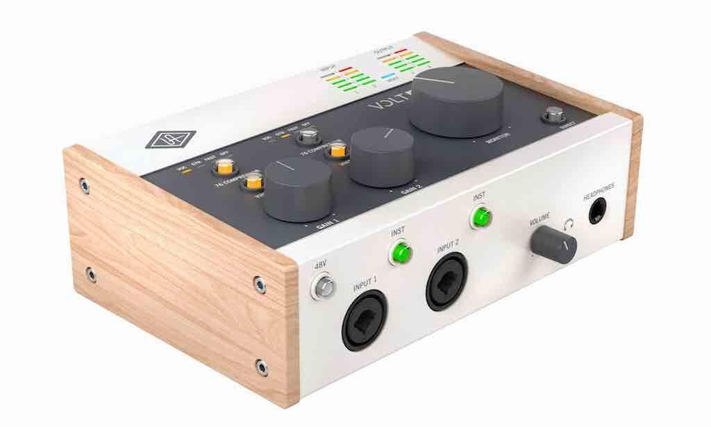 Universal Audio Volt 276 interfaccia audio mobile iphone ipad pc mac hardware home studio recording midiware strumentimusicali